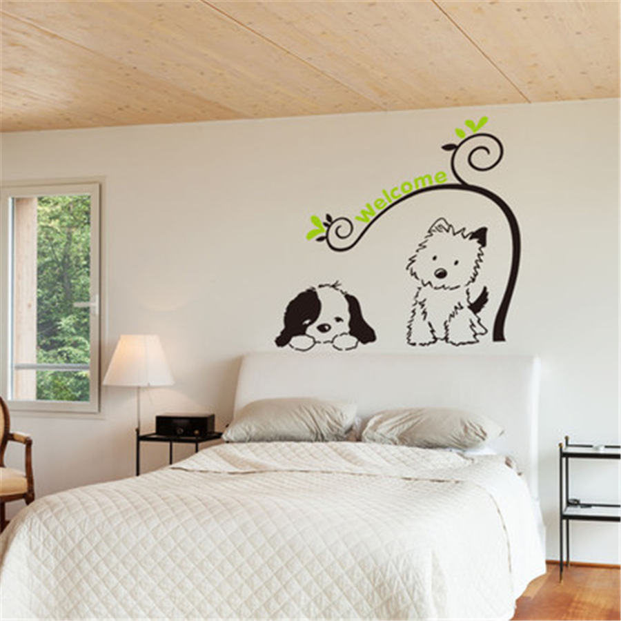 Dog wall decals quotes for office dedroom kids wall stickers for dog wall decals quotes for office dedroom kids wall stickers for kids rooms butterfly on the wall interior wallpaper ddx269 in wall stickers from home amipublicfo Images