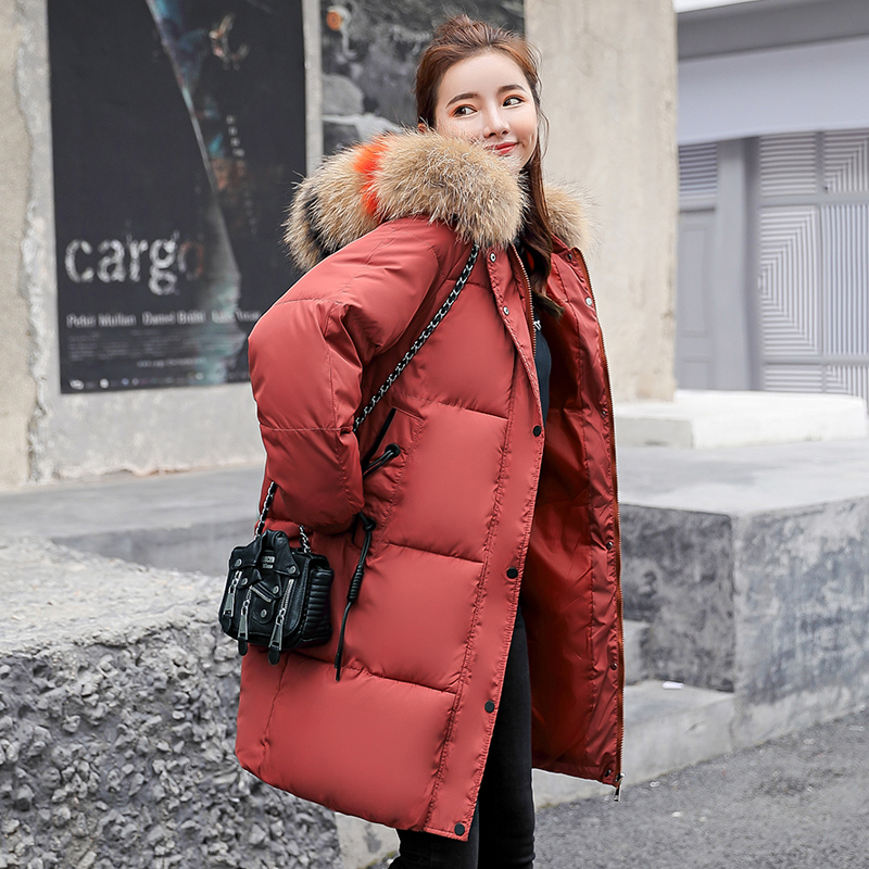 Winter Maternity fur collar down jacket Pregnancy long thick warm outerwear pregnant woman coat pregnancy clothing 2015 new hot winter thicken warm woman down jacket coat parkas outerwear half open collar luxury mid long plus size l slim