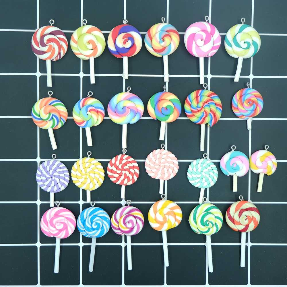 Kawaii Lollipop Charms Pendants for DIY  decoration bracelets necklace earring key chain Jewelry Making lucky charm