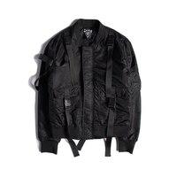 Fashion Bomber Jacket Men Latest Design Military Style Army Green Thick Man Coats Back Big Pocket