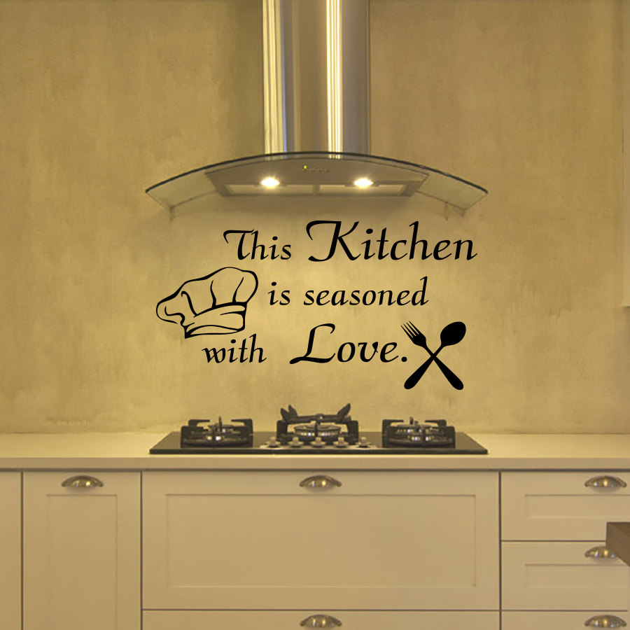 ZOOYOO This Kitchen Is Seasoned With Love Cutlery And Chef Hat ...