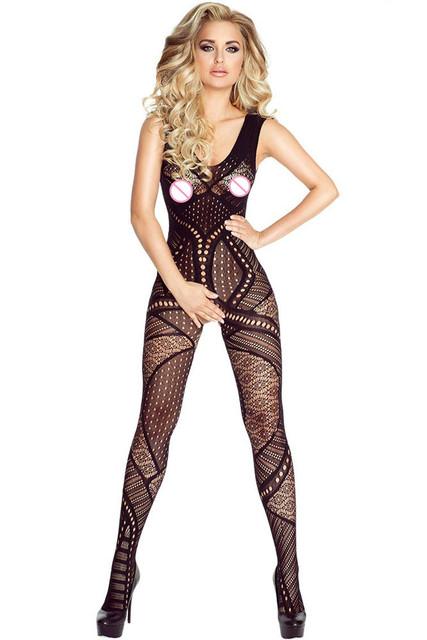 Moda 2017 Nuevas Mujeres Atractivas ropa de Noche Atractiva Caliente Patrón Hueco-Hacia fuera seamless bodystocking entrepierna abierta lc79866 un tamaño cupo s m L