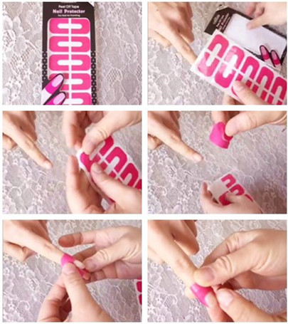 New Plastic L Off Tape Nail Protector Art Latex Palisade For Easy Fast Clean