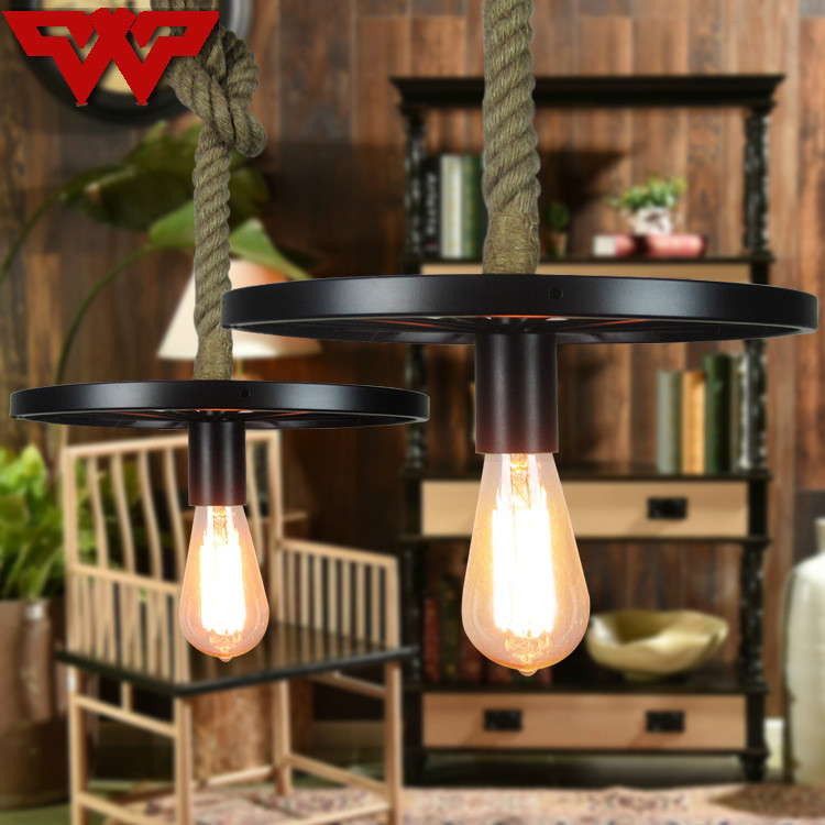 Retro Vintage Rope Pendant Light Lamp Loft Creative Personality Industrial Lamp American Style For Ding Living Room Restaurant modern american style pendent lamp restaurant bar loft rope lighting lamps retro living room glass light