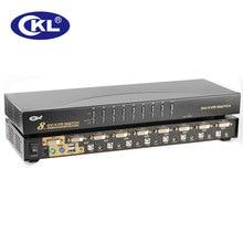 CKL 8 Port USB PS/2 DVI KVM Switch Support Audio Auto Scan PC Monitor Keyboard Mouse DVR NVR Switcher 1080P (CKL-9138D)