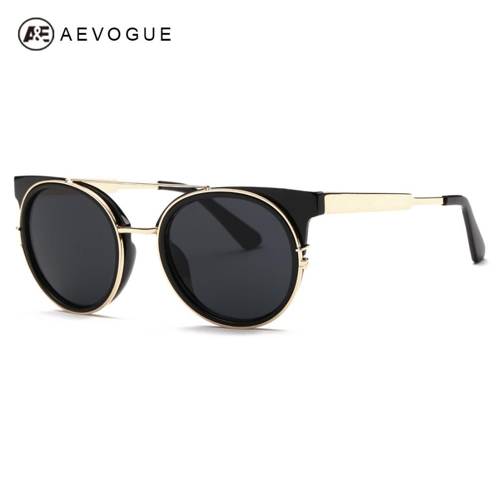 Aevogue lunettes de soleil femmes date de haute qualité double-pont en  métal temple lunettes de soleil marque designer uv400 ae0358 2de9ee0db672