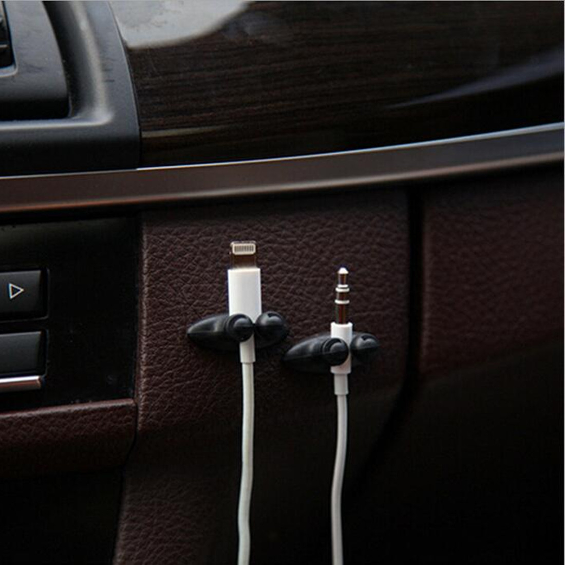 Low Promotions Good Quality Car Adhesive Headphone USB Charger Line Auto Multi purpose Fastener Clip Car Accessories