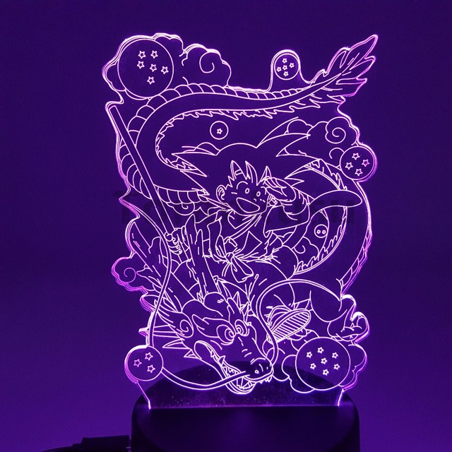 GOKU 7 SHENRON 3D LED LIGHTS