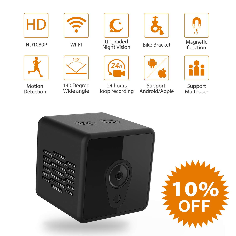 Camsoy S1 WiFi Mini Camera 1080P HD IP P2P Night Vision Remote Home Security Camera Wireless Night Vision Camera Baby Monitor