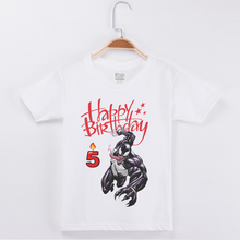 New Products Best Selling Birthday Numeral Boys T-Shirt Venom Printing Cotton Kids Clothes Boy Tops Children Clothing Tee Shirts