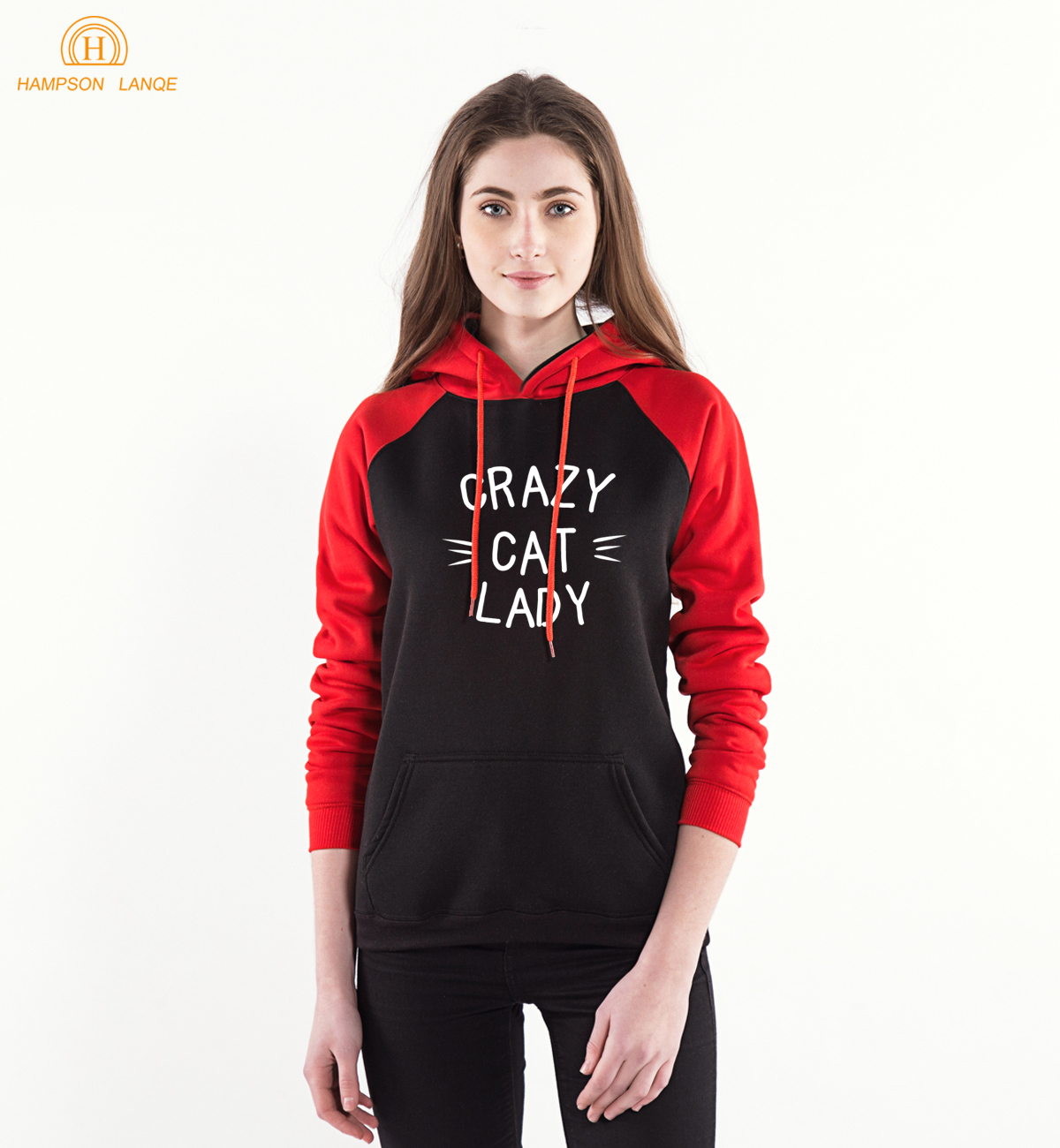 Kawaii Crazy Cat Lady Long Sleeve Hooded Women 2019 New Spring Autumn Casual Sweatshirts Hoodies Warm Kpop Hoodie Cute Pullovers