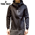 Tangnest hoodie dos homens de 2017 novos homens da moda camisola ocasional de manga comprida com capuz venda quente confortável homens do hoodie mww1124