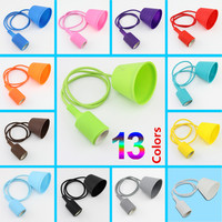 Colorful E27 Lamp Cover E27 Silicone Cap E27 Celling Lamp Base 13 Colors Holder