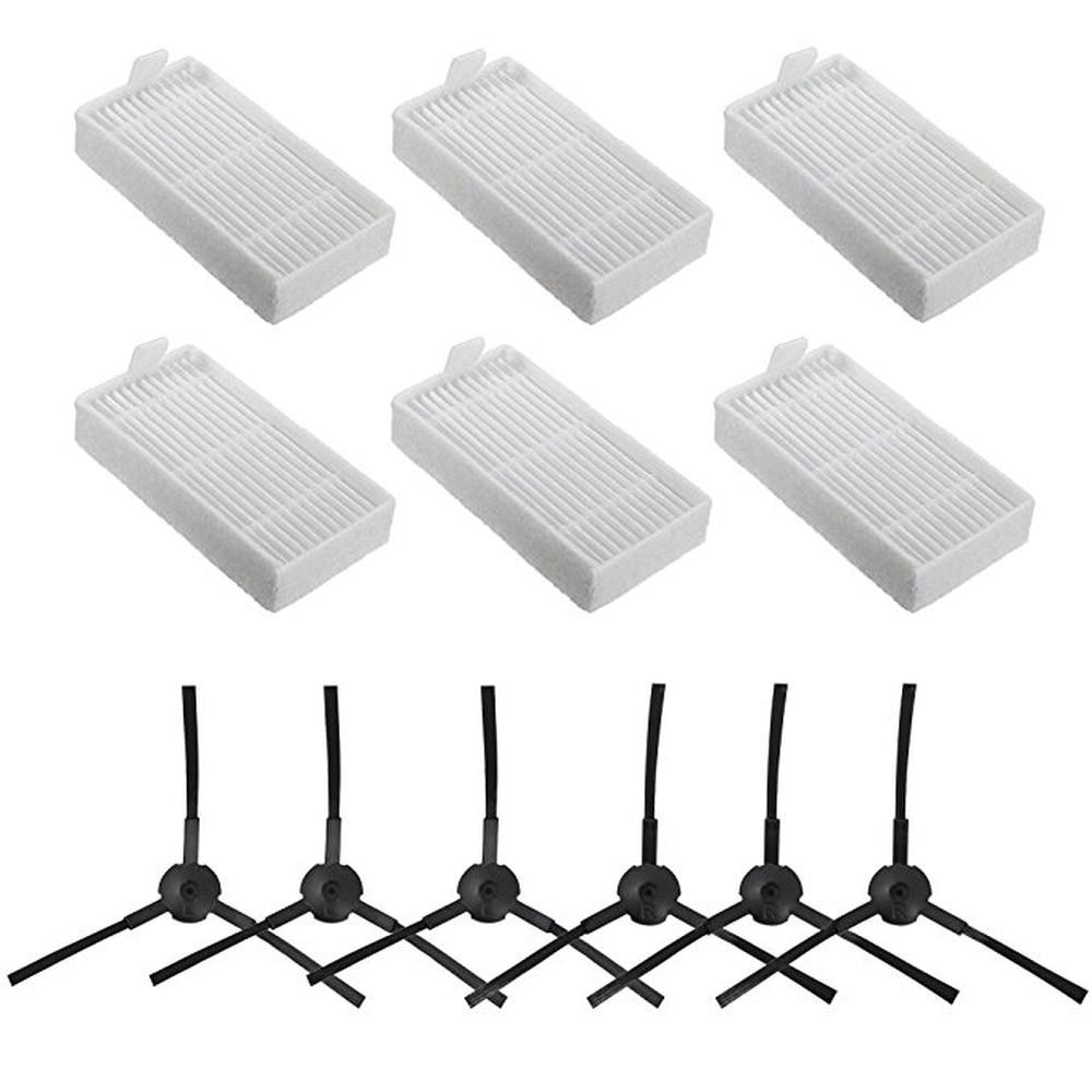 Kit di ricambio per ILIFE V3 V5 V5s V3s Pro V5s Pro V50 X5 Robot Parti per Vaccum cleaner Filtro Hepa * 6 + spazzola laterale * 6 ILIFE v55