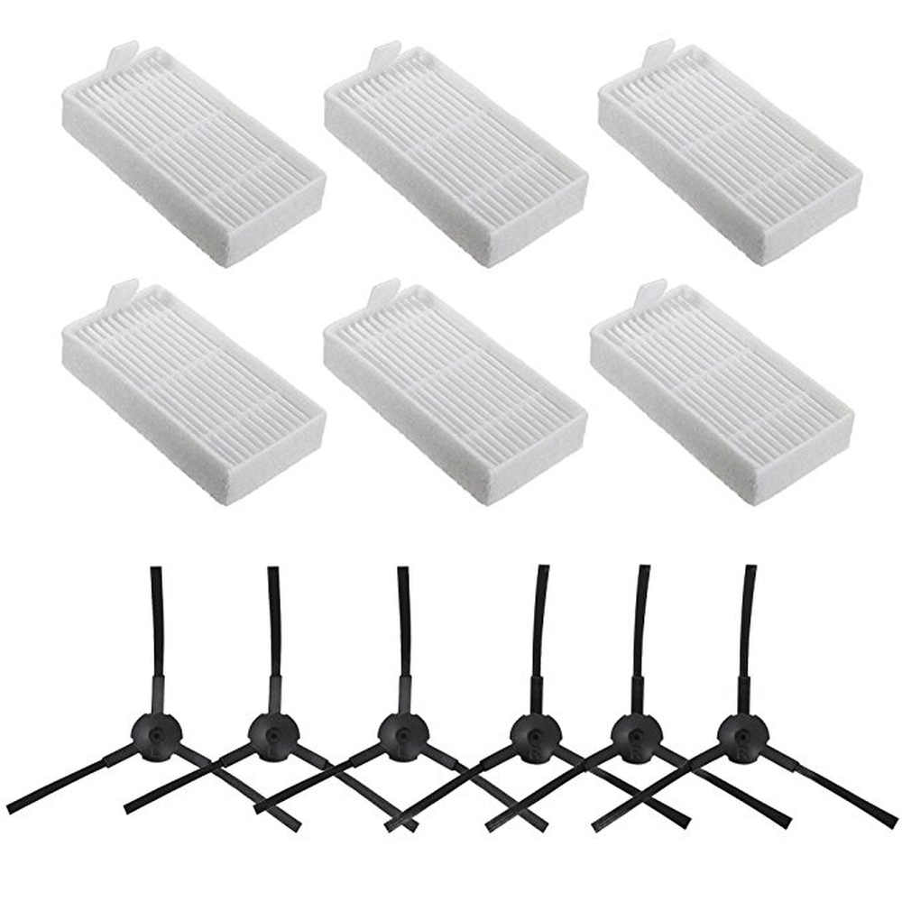 Parts kit for ILIFE V3 V5 V5s V3s Pro V5s Pro V50 X5 Robot Vacuum Cleaner Parts Hepa Filter*6+ Side Brush *6 ILIFE v55 for ilife v5s pro ilife v5 ilife v50 v55 x5 v3 v3 v5pro v3s pro 6 side brush 6 hepa filter 3 mop cloth 5 magic paste