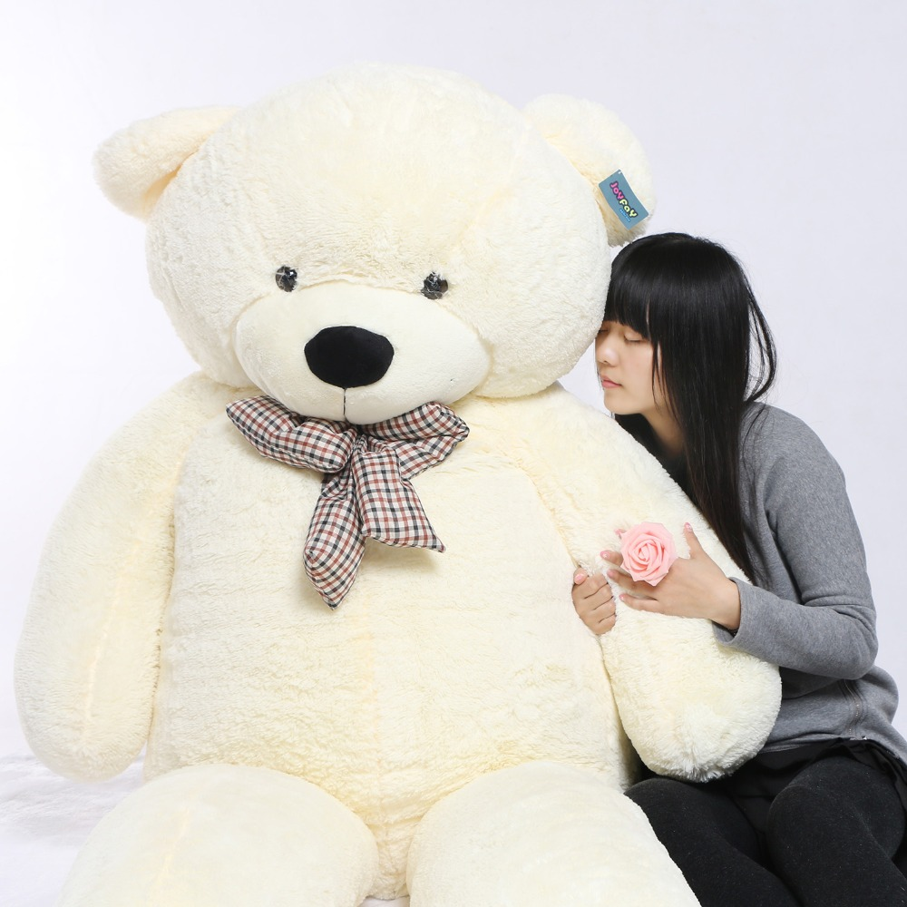 Joyfay White 91 230cm  Giant Teddy Bear 2.3m Huge Stuffed Plush Teddy Bear Big Soft Toy gift for Christmas Birthday Valentine 230 om 8gb 230 white