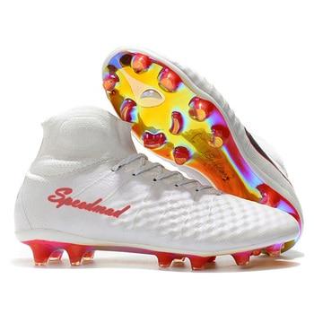 980dfc242879e Zapatos De fútbol al aire libre zapatos De fútbol para hombre botas De  fútbol De tobillo alto originales FG camisetas De fútbol 2018 profesional  Sapatos De ...