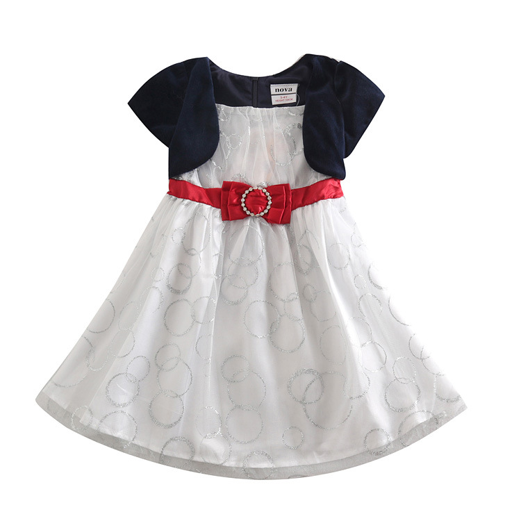 birthday dresses for baby girls Sapphire blue Kid dresses 2 6 ...