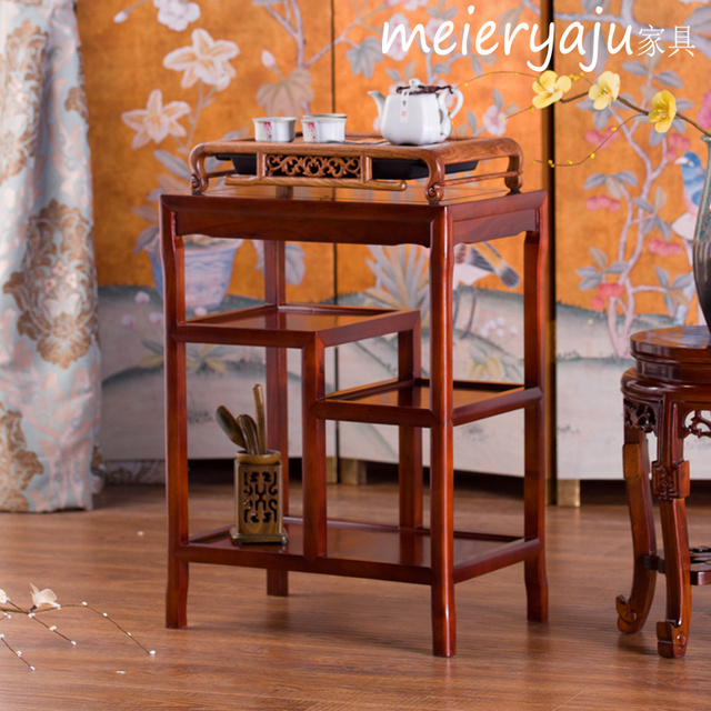 Chinese Elm Wood Mahogany Small Square Table Coffee Rectangular Side A Few  Simple Multi Angle