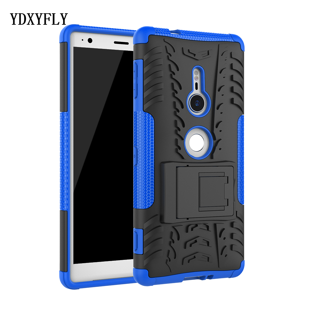 Heavy Duty Armor Cover Kickstand Case For Sony Xperia XZ2 Compact Rugged Hybrid PC&TPU Anti-Slip Protection Case For Xperia XZ2