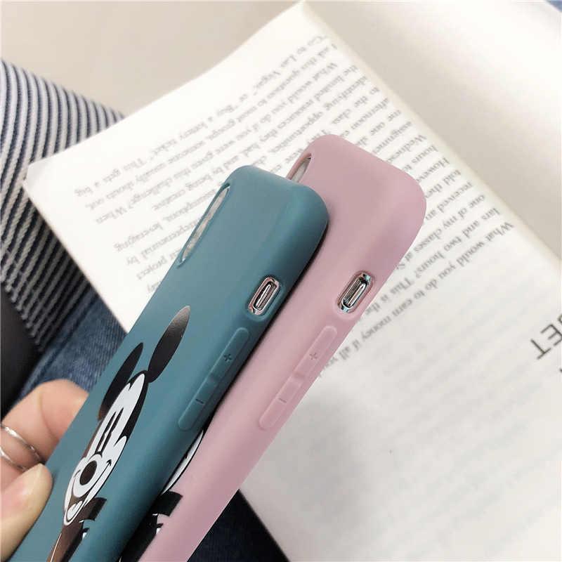 Яркие Матовые чехлы для телефонов iphone X XR XS Max мультяшный Микки мягкий TPU чехол для iphone 6 6s 7 8 plus задняя крышка