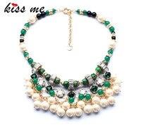 New Styles Statement Fashion Elegant Resin Beaded Imitation Pearls Pendant Necklaces Pendant 2014