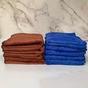 Image 4 - 1pc serviette microfibre voiture Auto nettoyage séchage tissu absorbant doux voiture soin chiffon Duster détaillant lavage de voiture 35x75cm