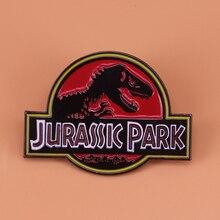 Парк Юрского периода Эмаль Булавка брошь с динозавром Раптор значок ужас животных ювелирные изделия женские рубашки куртки аксессуары мужские подарки