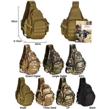 военный штурм | Molle военный слинг сумки кемпинг рюкзаки Molle дорожная сумка ремень одиночный Shouder штурм Спорт на открытом воздухе нейлон компьютер XA575WA