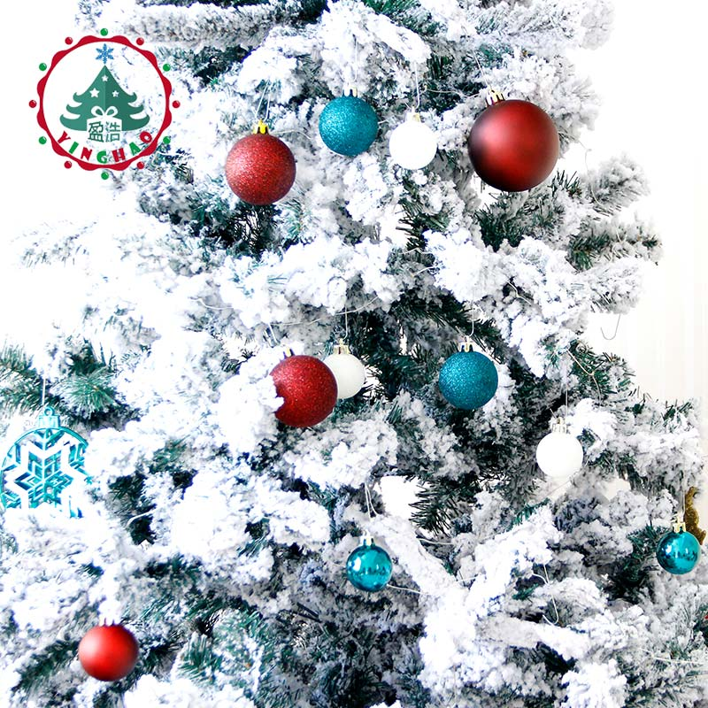 inhoo 50pcs christmas decoration ball ornaments pendant accessories red green gold bauble balls decor for christmas home party in ball ornaments from home