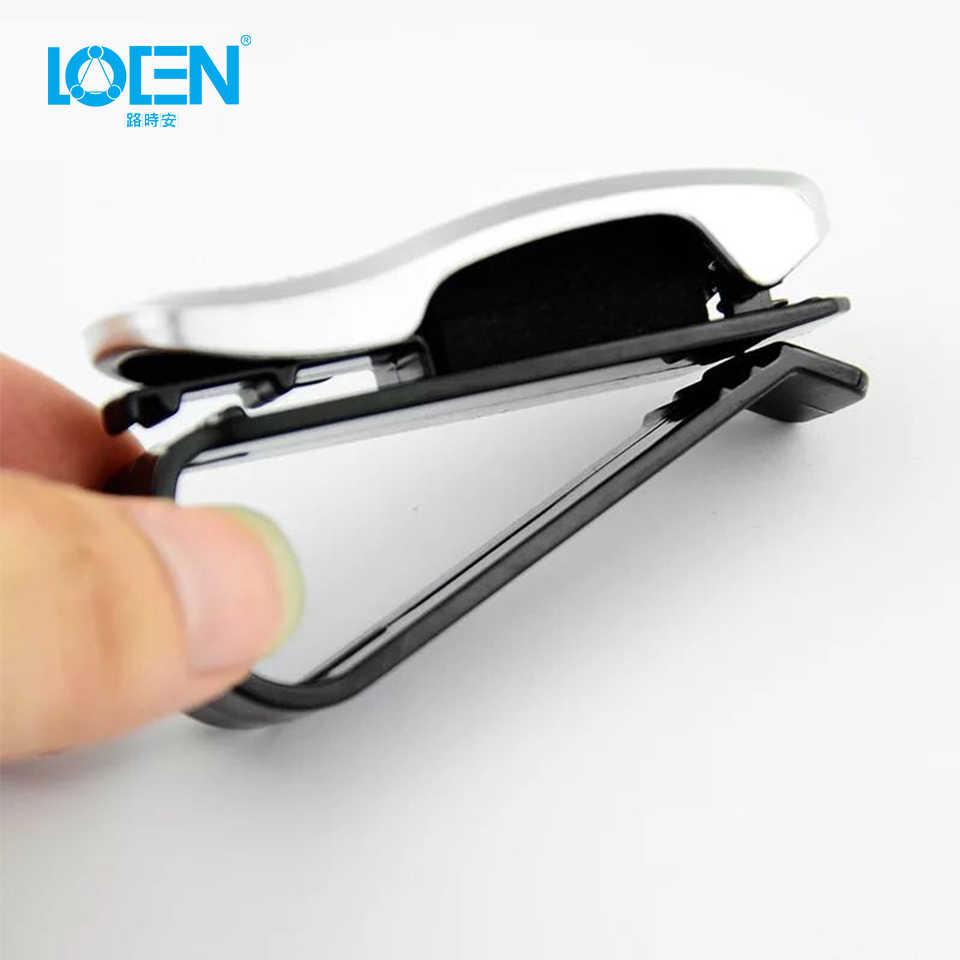 Soporte para gafas de coche, Clip para tickets, sujetador para automóvil Cip, accesorios de coche ABS para parasol de vehículo, gafas de sol