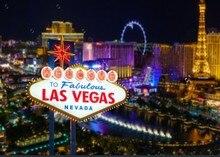 Las Vegas banner ciudad noche fondos paño de vinilo de alta calidad ordenador impreso fondos del Partido