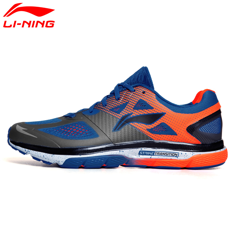 Li-Ning Men's Cushion Running Shoes Breathable Textile Sneakers Support TPU LiNing Sports Shoes ARHM057 XYP478 original li ning men professional basketball shoes