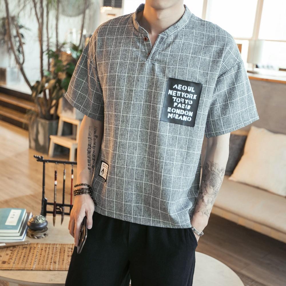 Shirt design for man 2017 - Summer T Shirt Men Fashion 2017 Slim Fit Short Sleeve Mens T Shirts Stand Collar