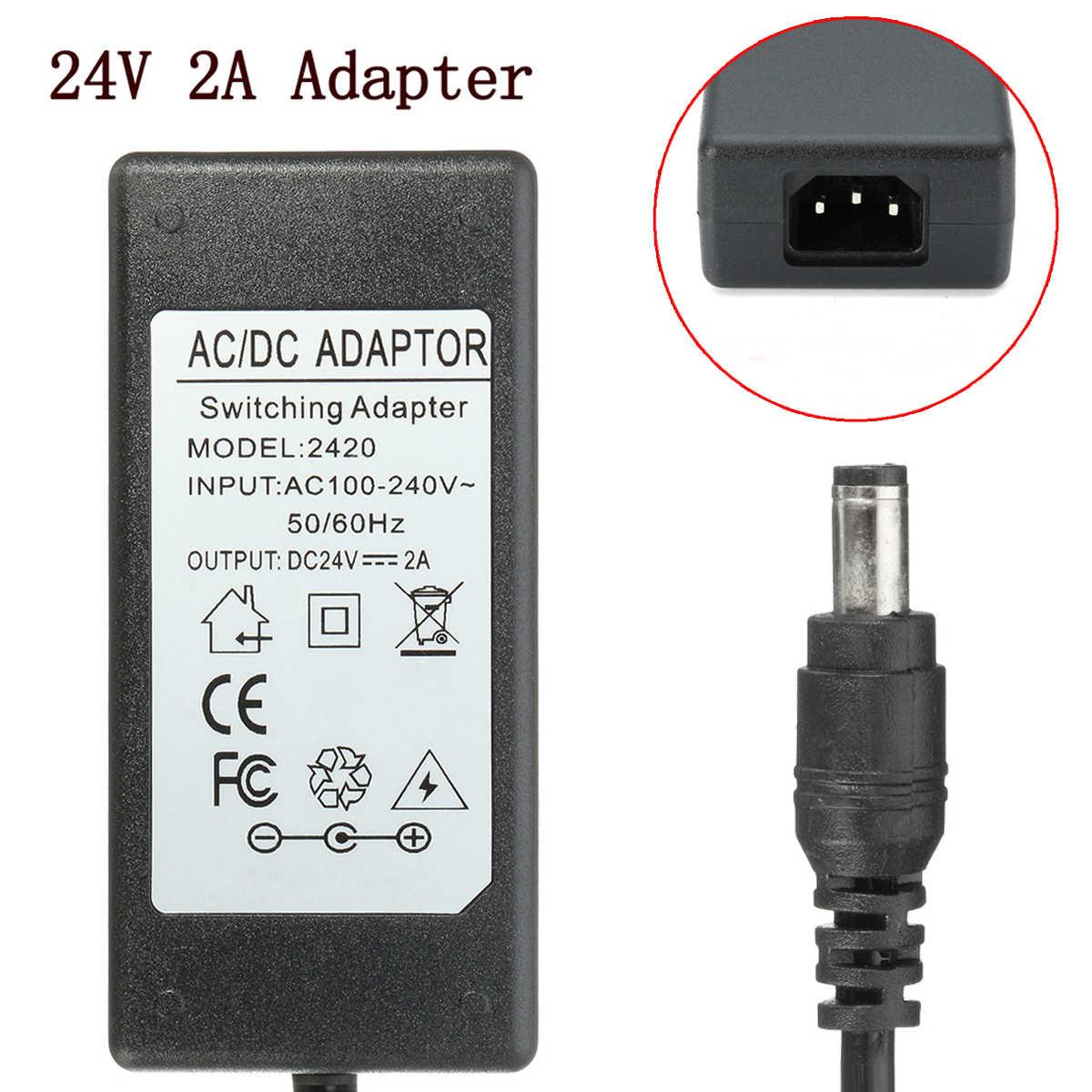 1 шт 24 V 2A преобразователь переменного тока в постоянный адаптер Зарядное устройство для logitech гоночный руль G27 G25 G940 Дрп DA-42H24 ADP-18L Питание с кабелем переменного тока