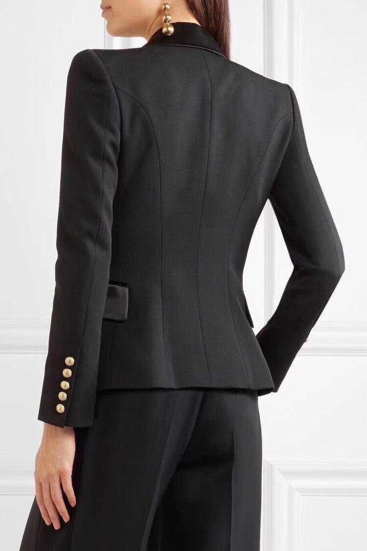 De Travail Bouton Noir Casual Casaco Slim Couleur Vêtements Manteau Manches Un Black Élégant Femmes Blazer Blazers Mode Veste Pleine Feminino CdxBoeWQrE