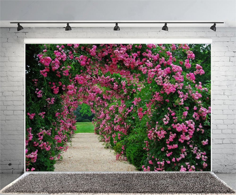 Laeacco spring flowers vines archway scenic photography backgrounds laeacco spring flowers vines archway scenic photography backgrounds customized photographic backdrops for photo studio in background from consumer mightylinksfo