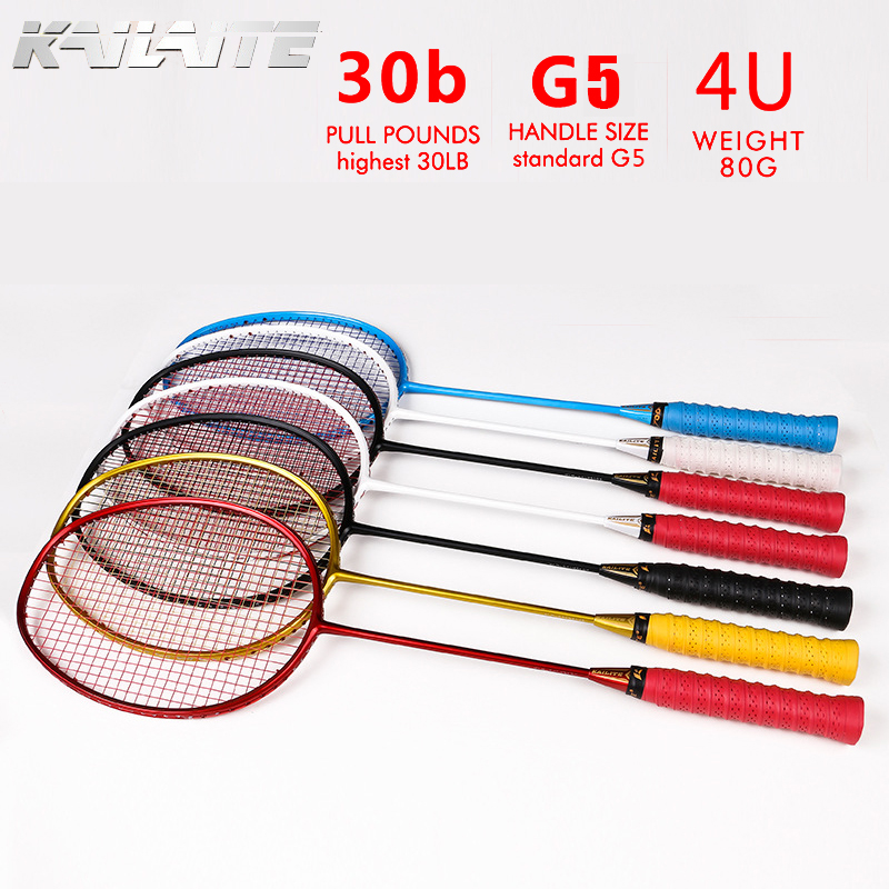 KAILITE 4U 82g G5 1 Pieces Ultra Light Full Carbon Badminton Racquet 30LBS  Sport Competition Badminton