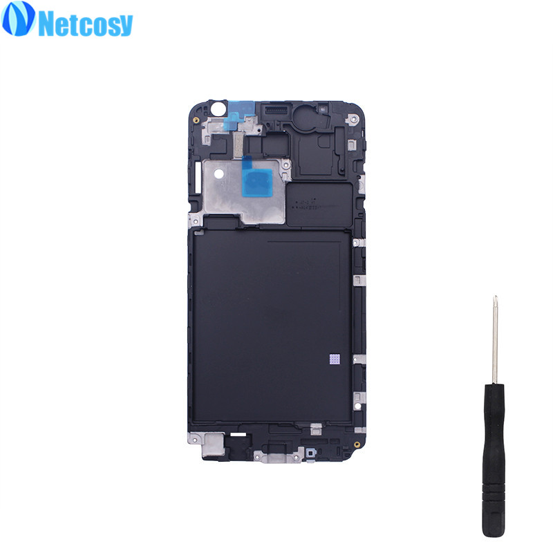 Netcosy Front Housing Frame Part Bezel LCD Panel Faceplace Repair part For Samsung Galaxy J7 J700 J700F SM-J700F & Screwdriver