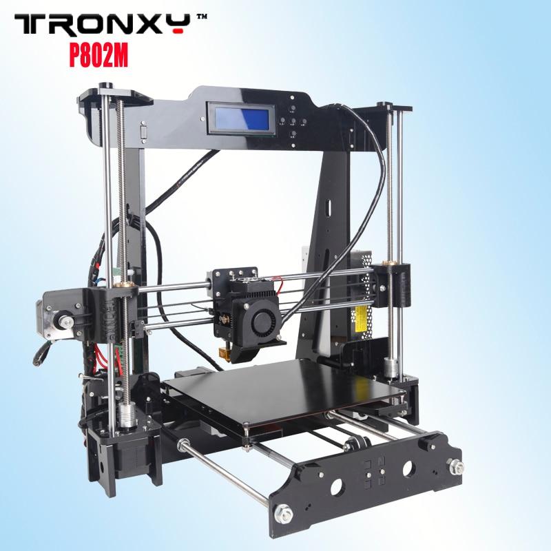 Tronxy 2016 Upgraded Quality High Precision Reprap 3D printer Prusa i3 DIY kit P802M max print size 220*220*240mm