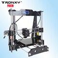 Tronxy 2016 atualizado qualidade alta precisão reprap 3d impressora prusa i3 kit diy p802m max tamanho da impressão de 220*220*240mm