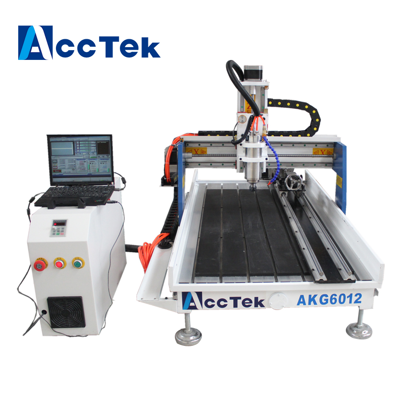 Acctek hot sale desktop 3 axis cnc wood carving machine /mini aluminum cnc router 6012/mini cnc router for acrylic acctek hot sale cnc router machine akg6090 6012 for wood stone metal mini cnc router engraving machine for copper