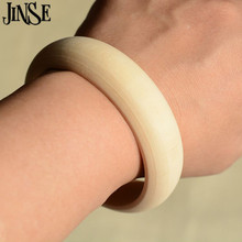 1PCS Unfinished Wood Bangles Bracelet Rings Painting Jewelry Making Craft 2cm Width 6.60cm Inner Diameter