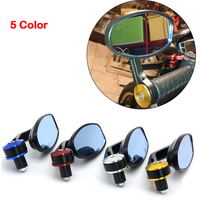 Universal Motorcycle Scooter Racer Rearview Side View HANDLE BAR END Mirror For Suzuki GSXR600 GSXR750 GSXR1000