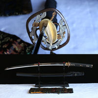 Hand forged 1095 high carbon steel japanese samurai katana real sharp sword.