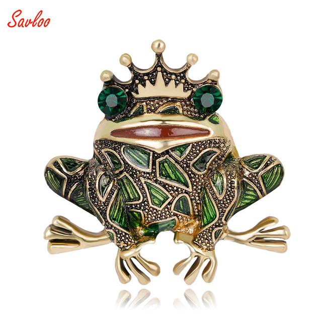 Grenouille Couronne vintage grenouille couronne broche vert yeux insectes crapaud
