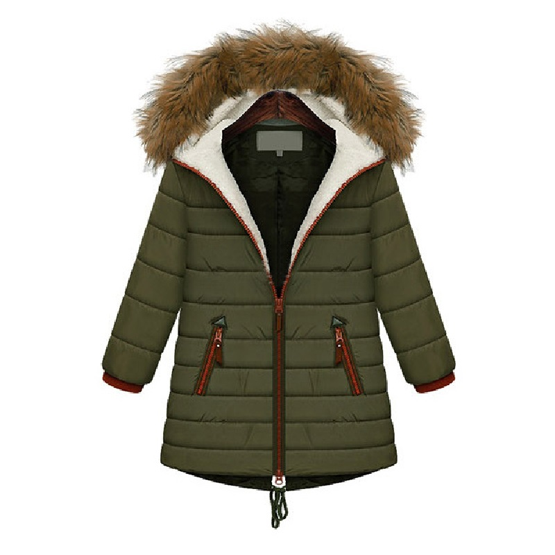 2017 Fashion Winter Jacket Warm Parkas Women Coat Faux Fur ...