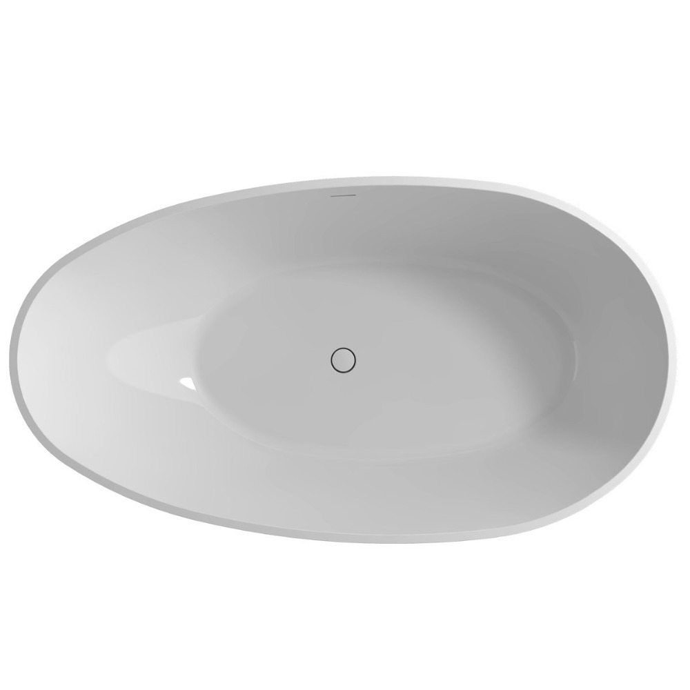 1780x980x510mm Solid Surface Stone CUPC Approval Bathtub Oval Freestanding Corian Matt Or Glossy Finishing Tub RS6553