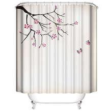 Trend shower curtain 180x180CM Japanese-style plum Flower Fairy Simple waterproof bathroom fabric polyester