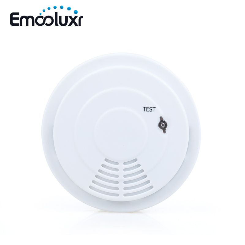 433mhz Wireless Smoke Sensor Fire Alarm Detetor Smoke Alarm For Home Alarm System G90B Wifi Alarm With Battery Installed
